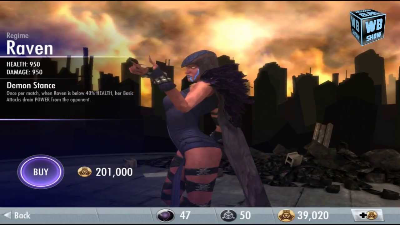 Injustice Gods Among Us Regime Raven Challenge Mode