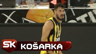 Neverovatan Koš Nikole Kalinića na Meču Fenerbahče - Partizan   SPORT KLUB Košarka