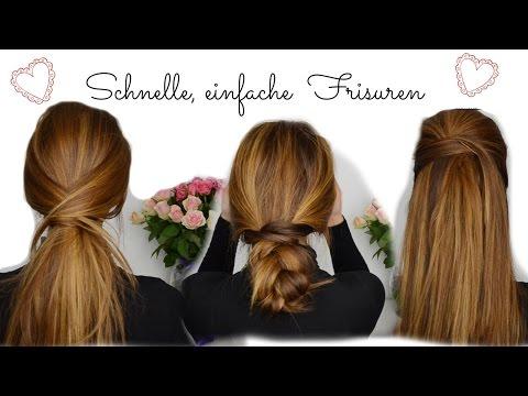Einfache Schnelle Frisuren I Lange+mittellange Haare