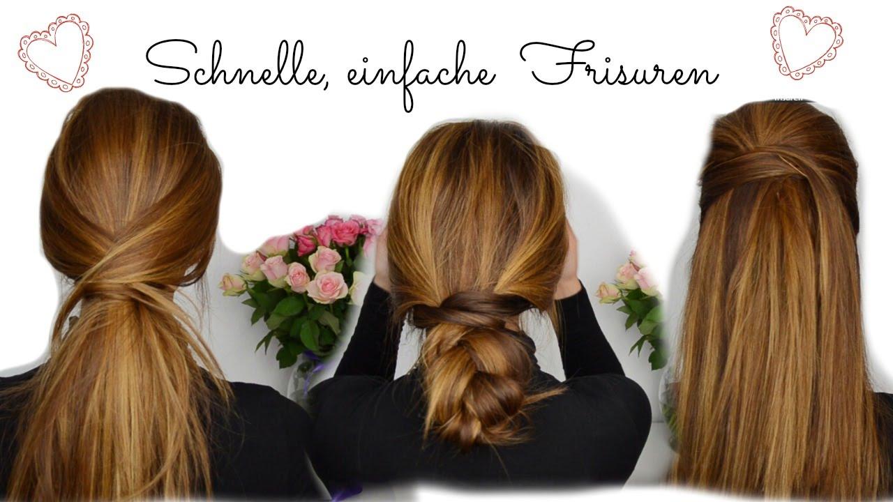 Einfache Schnelle Frisuren I Lange Mittellange Haare YouTube