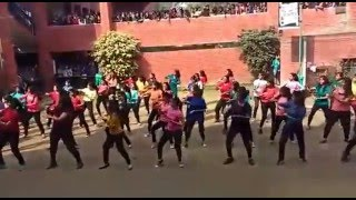 flash mob at reverie gargi college 14 feb 2016