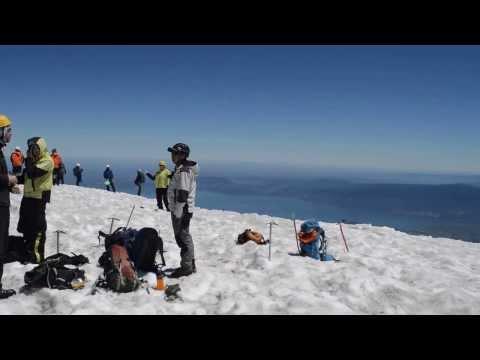 At the top of Volcano Villarica