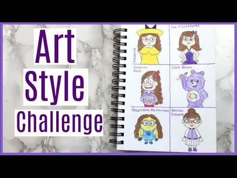 Art Style Challenge - Drawing myself in 18 different cartoon styles!