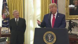 President Trump Presents the Medal of Freedom to Lou Holtz