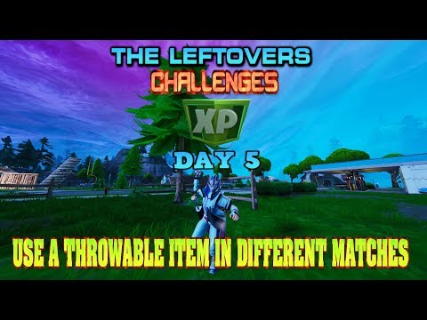 🔹🔷SEASON 10 LEFTOVER DAY 5 CHALLENGE USE A THROWABLE ITEM IN DIFFERENT MATCHES 🔷🔹