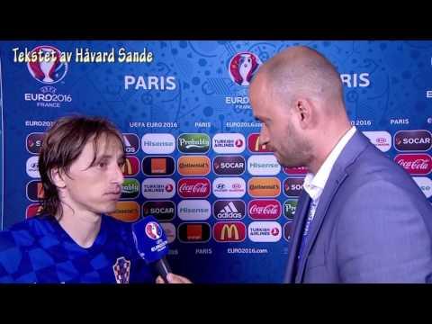 Luka Modric snakker norsk! (EM 2016)