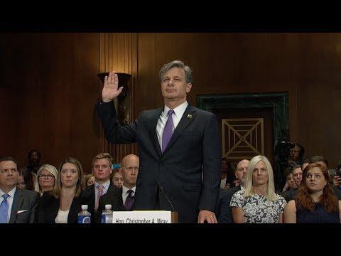 Christopher A. Wray, Trump's FBI nominee, testifies before U.S. Senate Committee on the Judiciary