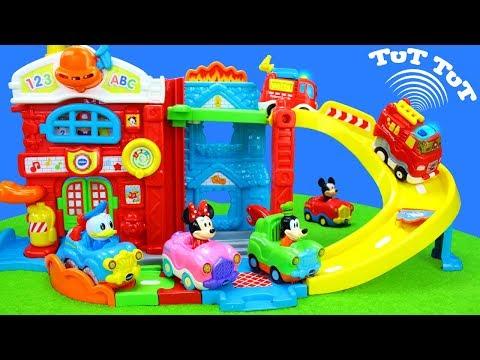 Spielzeug TuT TuT Baby Flitzer für Kinder mit Feuerwehrautos & Polizeiautos als Unboxing Kindervideo