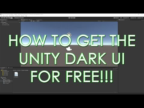 How to Enable the Dark UI Theme for Unity Personal Edition 2017.1.0f3 / 5.6.1f1 and older