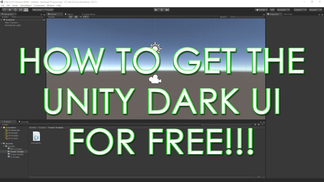 Enable Dark UI Theme in Unity Personal Edition 2019 1 and older for Free  [Hex Edit]