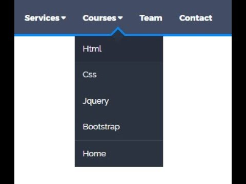 How to make a drop down menu with animation in html and css
