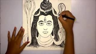 How To draw Lord Shiva Sketch