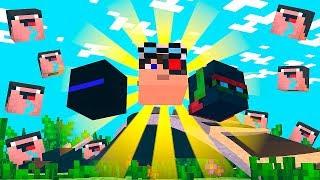 10 НУБОВ ВМЕСТЕ С ТЕРОСЕРОМ ЗОГОЙ И ДЕМАСТЕРОМ УБИВАЮТ ЕНДЕР ДРАКОНА НА СКАЙ ВАРСЕ! Minecraft