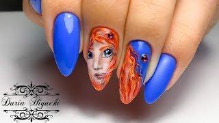 Лица на Ноготках!!! Храбрая Сердцем Дизайн Ногтей!!!