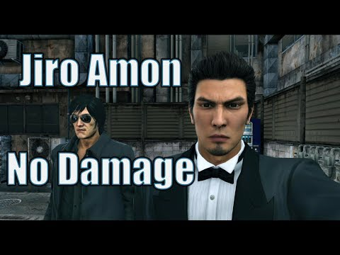 Yakuza Kiwami 2 Secret Boss - Jiro Amon ( No Damage)