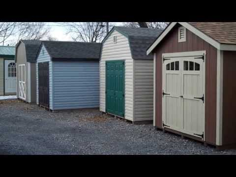 Styles of storage sheds in Virginia at Alan's Factory Outlet
