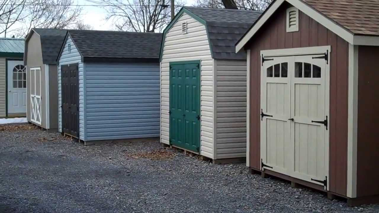 styles of storage sheds in virginia at alans factory outlet