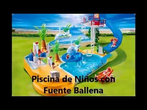 Playmobil piscina para ni os con fuente de ballena summer fun unboxing juguetes youtube - Playmobil piscina ballena ...