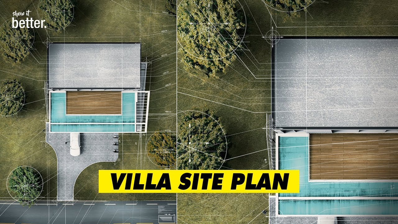 How to Create an Artistic and Realistic Site Plan with Sketchup and  Photoshop