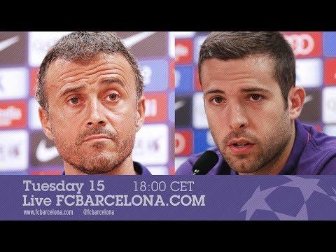 Press conference with Luis Enrique and Jordi Alba (AS Roma - FC Barcelona)