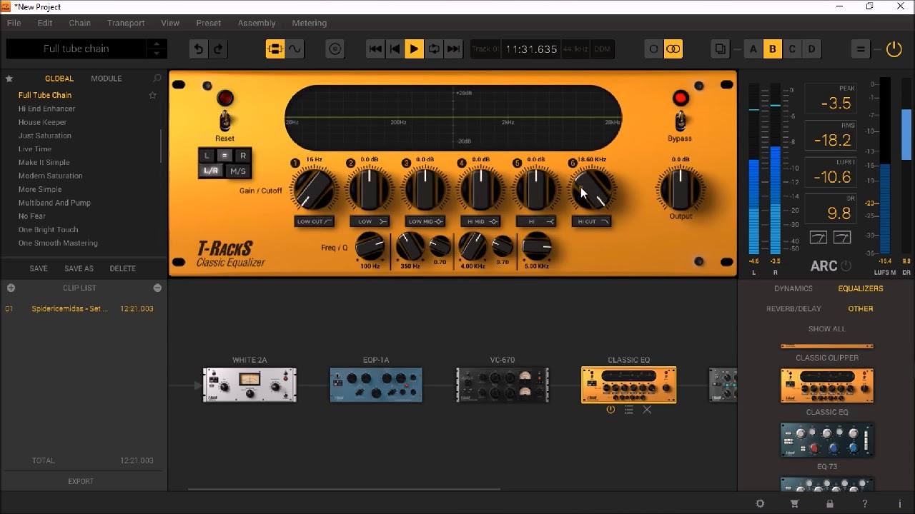 T Racks 5 MAX by IK Multimedia - Mastering A Full Track ...