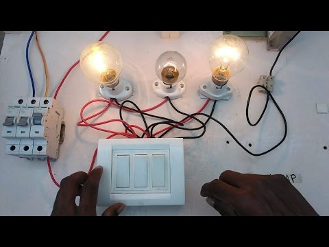 light switch box connection -in tamil