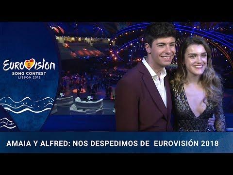 Entrevista Amaia y Alfred posterior a la final de Eurovisión