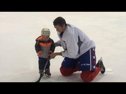 Jay Beagle Skates With Son at Kettler