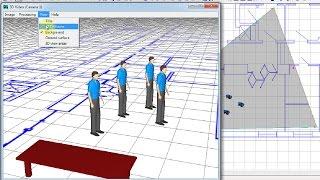 Проектирование видеонаблюдения с VideoCAD. Окно 3D Видео в VideoCAD Lite. Урок 11. (Russian)