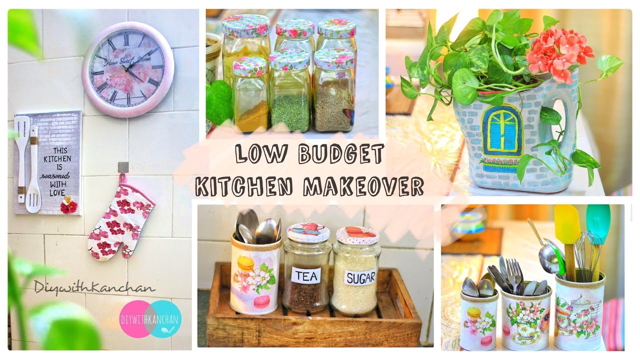 6 Amazing Ideas To Decorate Your Kitchen Diy Budget Friendly Rental Makeover Youtube