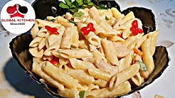 Pasta recipe |  white sauce pasta recipe | pasta recipe in white sauce with Global Kitchen