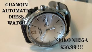 Guanqin Auto Dress Watch With Seiko Movement - $60 - Plus Special Skeleton Watch
