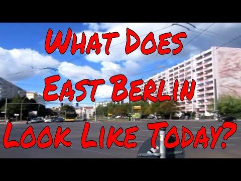 What does East Berlin Look Like today? Original apartment blocks Trams wide wide avenues