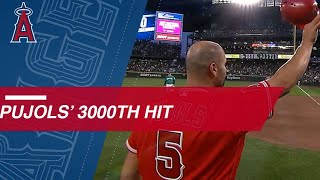 <b>Albert Pujols</b> joins the 3,000-hit club