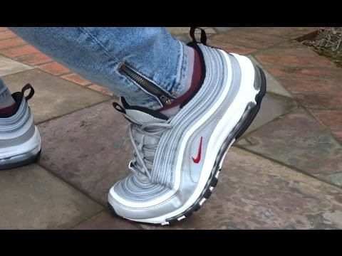 346cec6a0e8 NIKE AIR MAX 97 SILVER BULLET REVIEW + REALEST ON FOOT ON YOUTUBE ...