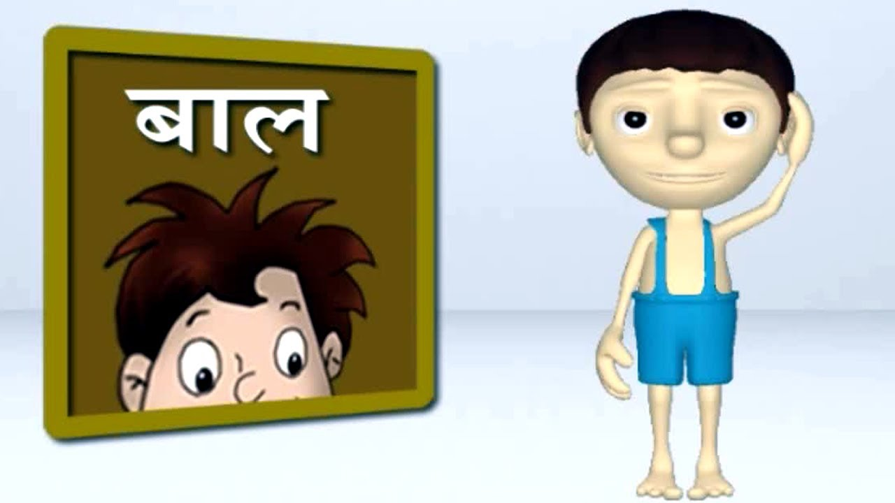 Parts Of The Body | Kids Cartoon Animation Learn Series In Hindi ...