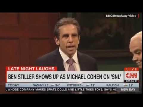 Ben Stiller star in SNL skit featuring Trump lawyer Michael Cohen