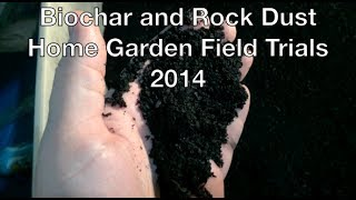 Biochar and Rock Dust Home Garden Field Trials Preparation in the Alberta Urban Garden