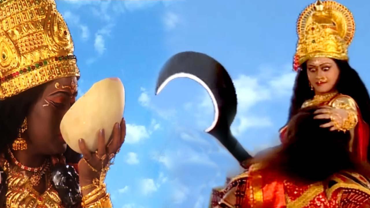 Maa Kali And Maa Sherawali Slayed Down Demon RaktBeej    English Subtitle  Hindi Devotional Serial  