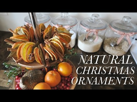 3 NATURAL DIY CHRISTMAS ORNAMENTS