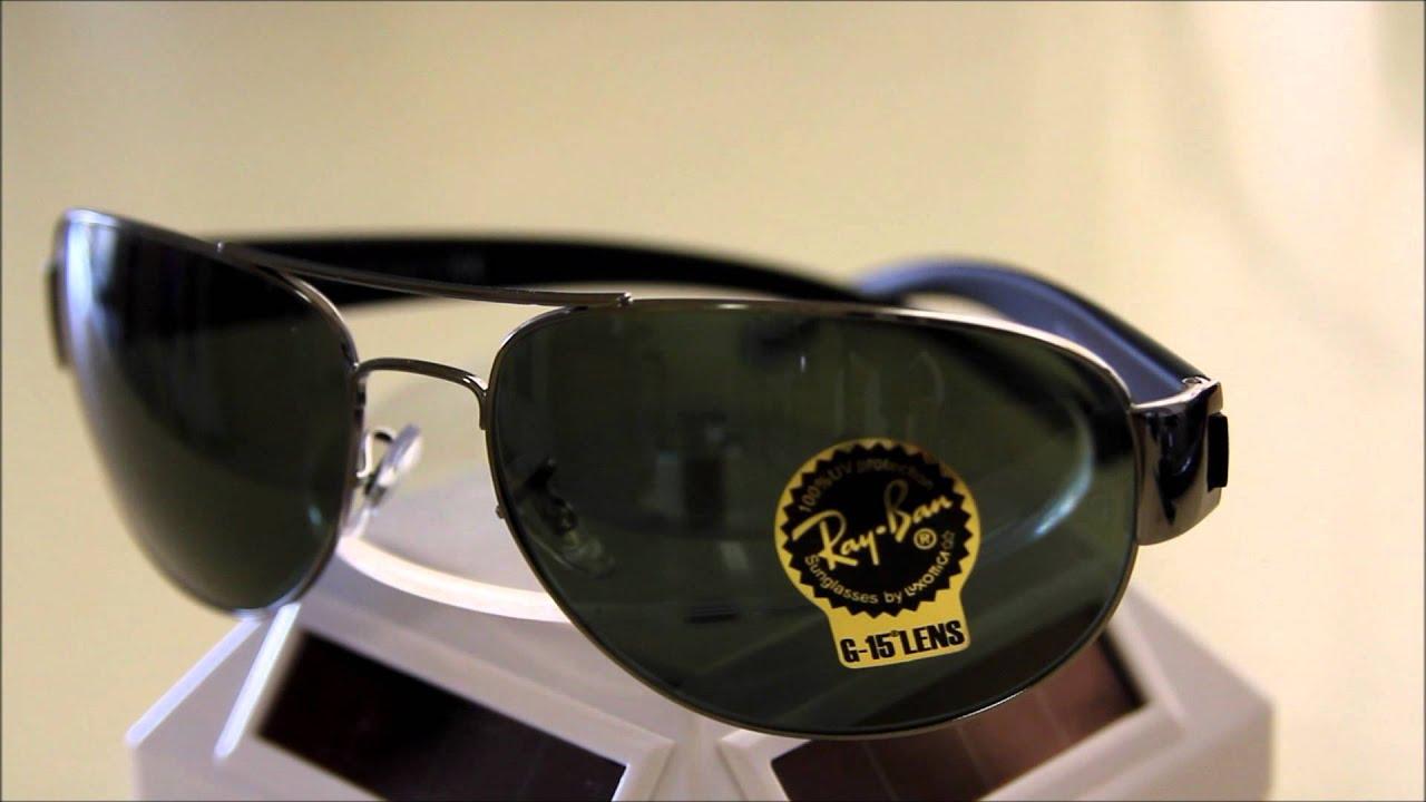 9f0aebaac5d Ray Ban RB3448 Grey Sunglasses - YouTube