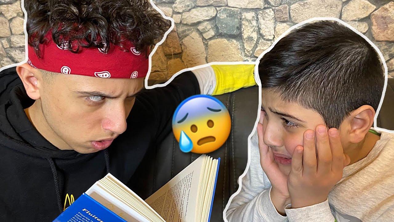 لما أخوك يدرسك 📘😱 / عباده خير الدين / Obada Sykh