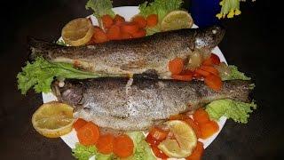Форель с овощами... рыба в духовке!!!