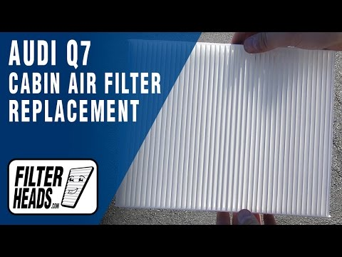 How to Replace Cabin Air Filter 2007-2013 Audi Q7