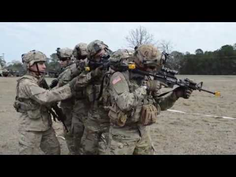 DFN: Soldiers practice infantry battle drills B-roll, FORT POLK, LA, UNITED STATES, 02.05.2018