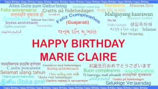 MarieClaire   Languages Idiomas - Happy Birthday