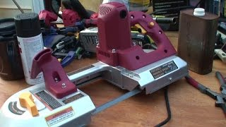 Two Harbor Freight Bandsaw's Cutting Steel