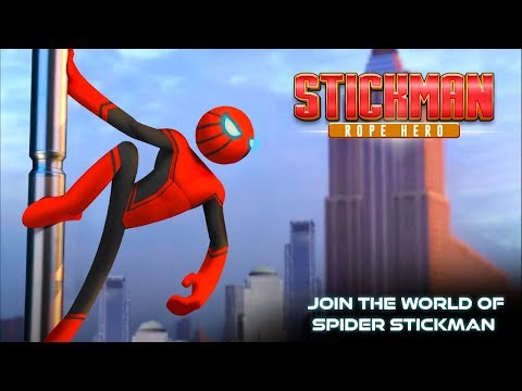Spider Hero Stickman Rope Warrior-Crimes City - Gameplay Trailer (Android Game)