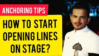 How to start Anch๐ring on Stage   Opening Lines for Anchor   Public Speaking Tips Online Education