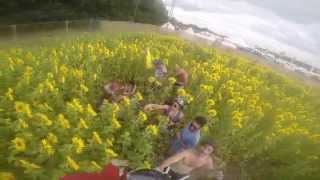 2 Minutes of Secret Garden Party 2014 on the GoPro with sunflowers, the paint fight and Richy Ahmed